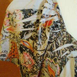 One World Tops - One World Printed Blingy Blouse